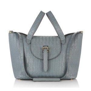 Luxury italian woven leather handbag
