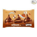 KISSES Milk Chocolate Pumpkin Spice (10-Ounce Bag, Pack of 4)