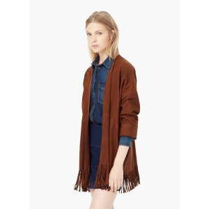 Fringed suede jacket - Woman