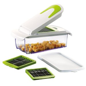 Jobox Vegetable and Fruit Chopper with 3 Stainless Steel Blades