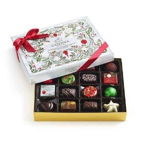 Assorted Chocolate Bûche de Noël Seasonal Gift Box, 16 pc   GODIVA