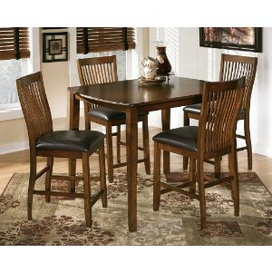 Stuman Counter Height Dining Room Table and Barstools (Set of 5)