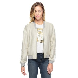 METALLIC FOIL FRENCH TERRY JACKET - Juicy Couture