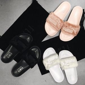 Back to Stock! Rihanna x Puma Fur Slides @ PUMA