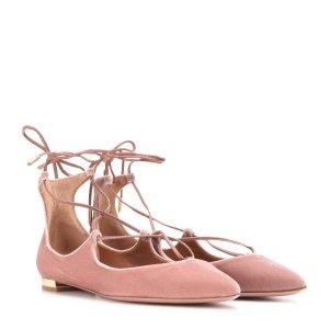 AQUAZZURA Christy Flat velvet ballerinas