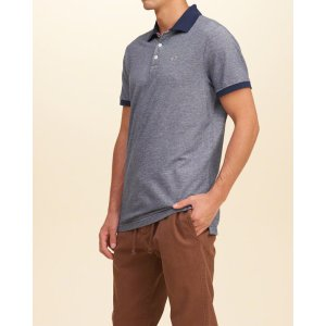 Guys Textured Pique Polo | Guys Hollister Sale | HollisterCo.com