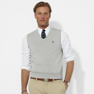 Pima Cotton V-Neck Vest