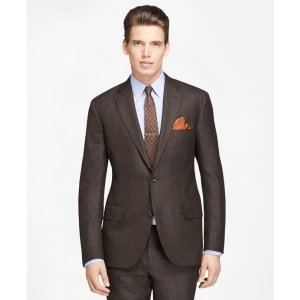 Men's Own Make Brown Plaid Deco Suit | Brooks Brothers