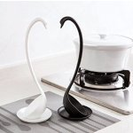 Codream® Best Value Pack of 2 - Elegant Swan Creative Kitchen Soup Ladle Spoon (Black+White)