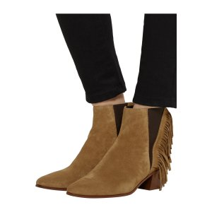 Fringed suede ankle boots | Saint Laurent