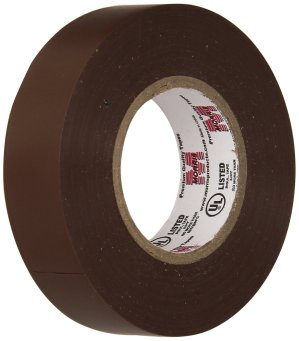 Morris 60060 Brown Vinyl Plastic Electrical Tape, 7 mil, PVC, 66' Length, 3/4