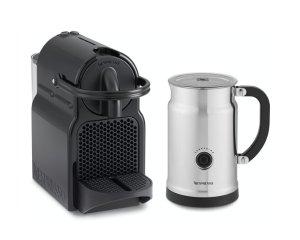 $99.99 Nespresso Inissia Espresso Maker with Aeroccino Plus Milk Frother, Titan