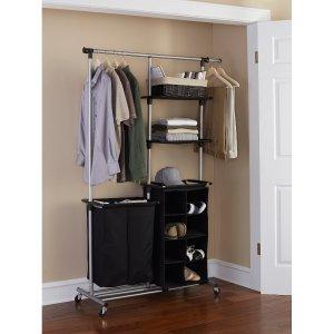 Mainstays Multi-Function Garment Rack, Black/Silver