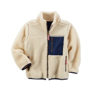 Kid Boy Sherpa Zip-Up Jacket | Carters.com