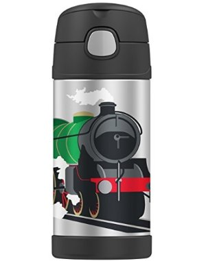 Thermos Funtainer 12 Ounce Bottle, Locomotive Train