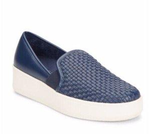 J/SLIDES Joven Woven Leather Slip-On Platform Sneakers @ Saks Off 5th