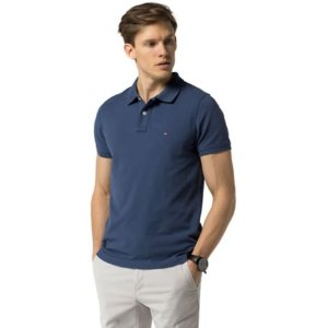 Slim Fit Contrast Under-Collar Polo