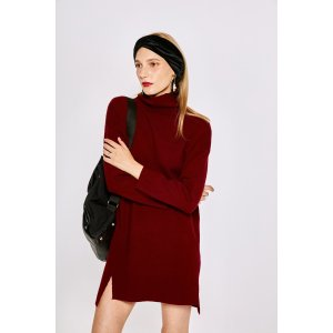 Basic Knit Dress in Red DR1407