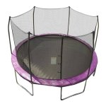 Skywalker Trampolines 12' Round Trampoline and Safety Enclosure - Purple