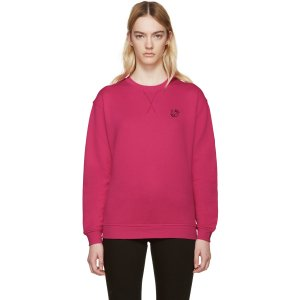 McQ Alexander Mcqueen: Pink Embroidered Pullover