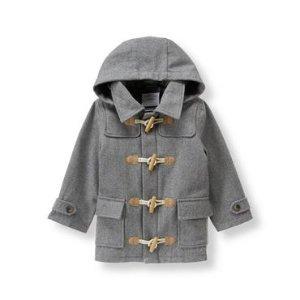 Heather Grey Wool Blend Toggle Coat at JanieandJack