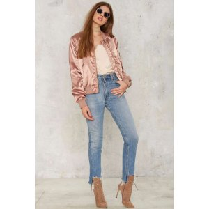Lay It On Slick Satin Bomber Jacket | Shop Clothes at Nasty Gal!