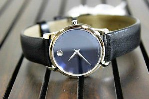 Lowest price! $160.99MOVADO Classic Museum Dark Navy Dial Men's Watch 2100007