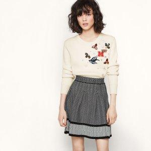 JUPON Jacquard knit short skirt - Skirts & Shorts - Maje.com