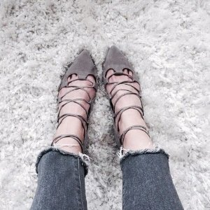 Billy Ella Lace-Up Flats  @ Anthropologie