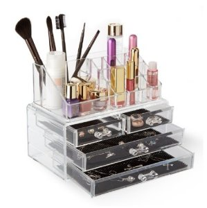 Lightning deal! $16.14 Allewie Acrylic Cosmetic Jewelry Makeup Organizer