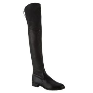 Stuart Weitzman Lowland Leather Thigh High Boot