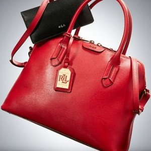 Mini Newbury Leather Satchel @ Ralph Lauren