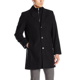 $35.67Tommy Hilfiger Men's Bruce 36-Inch Single-Breasted Top Coat with Bib