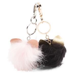 Faux Fur Pom Keychain Bag Charm - Handbags - T.J.Maxx