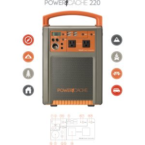 Pure Outdoor PowerCache 220 Power Generator - Monoprice.com