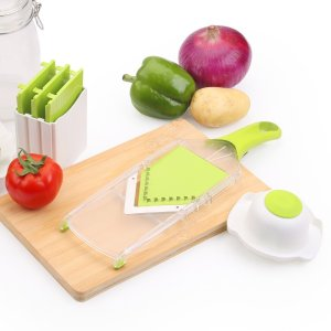 UTEN 4-Blade Handheld Adjustable Stainless Steel Mandoline Slicer Julienne Grater Multi-Function Kitchen Tool