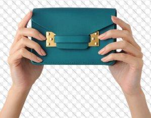 Sophie Hulme  Teal Nano Milner Envelope Bag