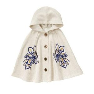 Floral Hooded Cape at Crazy 8