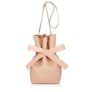 Ballet Pink Nappa Leather Bucket Bag