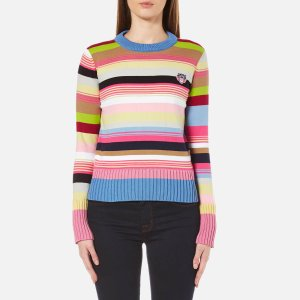 KENZO Women's Tiger Crest Cotton Knitted Jumper - Flamingo Pink - Free UK Delivery over £50