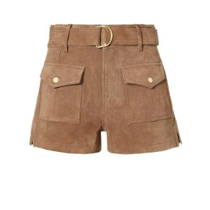 FRAME Denim Le Patch Pocket Suede Short | Shop IntermixOnline.com