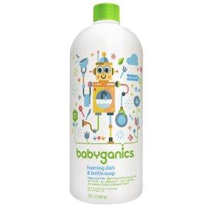 Babyganics Foaming Dish and Baby Bottle Soap Refill- Fragrance Free- 32 Ounce Bottle - Babyganics - Babies