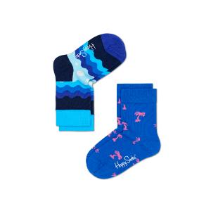 2 Pack Kids Soda Pop Happy Socks in Blue, white and Pink. Buy Kids Designer Socks Online at Happy Socks.