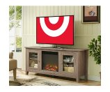 TV/Media stand fireplace 70