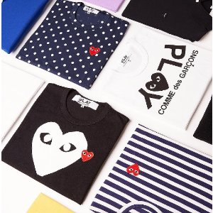 Comme des Garcons Play Small Emblem Tee