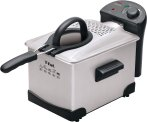 $25 T-fal FR1014 Easy Pro Enamel Immersion Deep Fryer 3-Liters of Oil, 2.6-Pound, Silver
