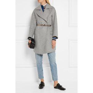 GOLDEN GOOSE DELUXE BRAND Belted wool-blend coat