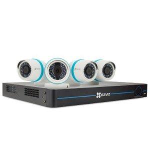 $399(原价$599)EZVIZ 4只装1080p IP监控摄像头 NVR监控系统带2TB硬盘