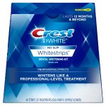 Crest 3D White Luxe Whitestrip Teeth Whitening Kit, Glamorous White, 20 Treatments