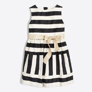 Girls' striped sateen dress : Dresses | J.Crew Factory